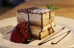 Tiramisu at Vito's by the Park located at 26 Trumbull Street in Hartford, CT 06103