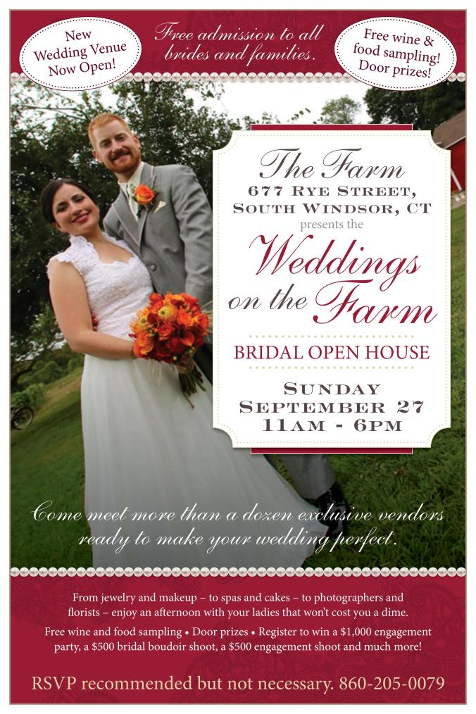 Bridal Show Fall 2015 - Vito's on the Farm, 677 Rye Street, South Windsor, CT 06074